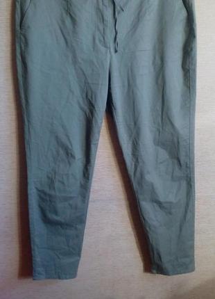Летние хлопковые брюки чинос 56 размер