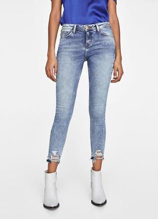 Стильные джинсы зара zara со скидкой, новые с биркой!