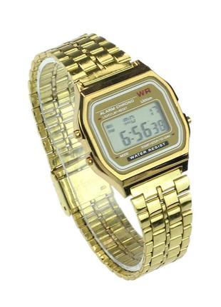 Легендарные часы в стиле ретро, цвет золото