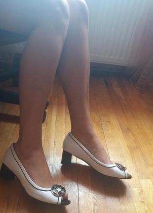 Летние кожаные туфли от respect оригинал