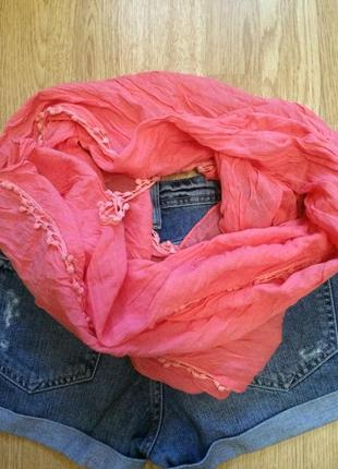 Фирменный яркий шарф accessorize,шарфик 100% вискоза,платок+подарок