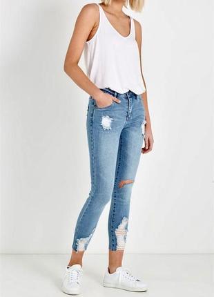 Синие джинсы скинни denim co