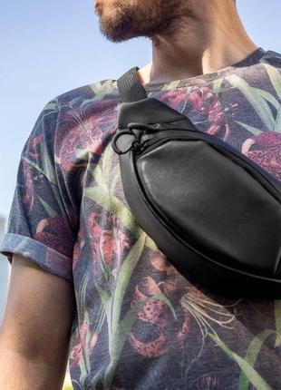 Кожаная сумка на грудь mod.kord1 фото