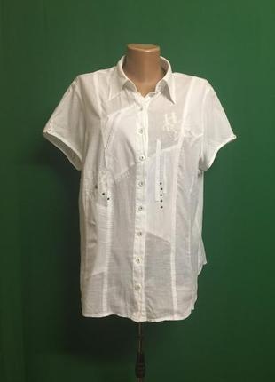 Батистовая туника-рубашка bonita с принтом на спинке (l/xl)