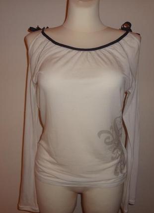 Оригинал nike куплены в usa кофта майка футболка с открытыми плечами белая с дизайном