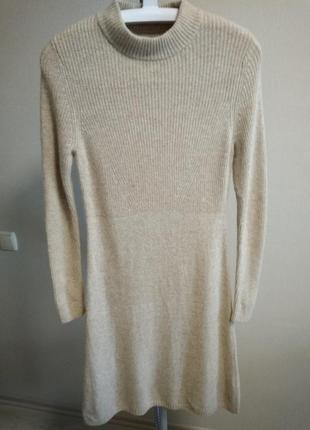 Теплое платье шерсть и кашемир