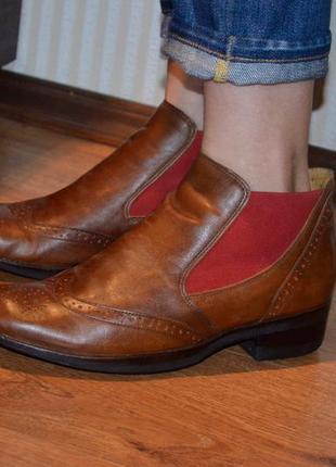 Ботинки полуботинки весна осень 37 размер beatrix италия кожаные