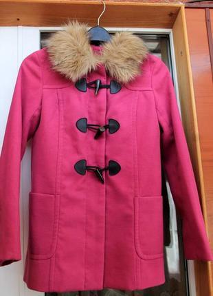 Розовое пальто, яркое. дафлкот, плащ, пальто