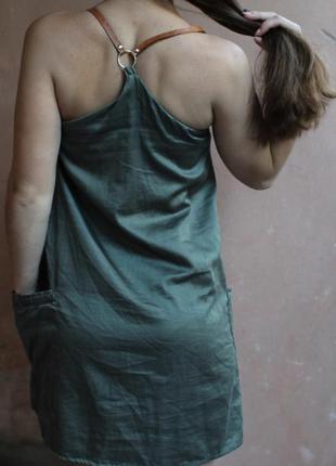 Платье цвета хаки от zara