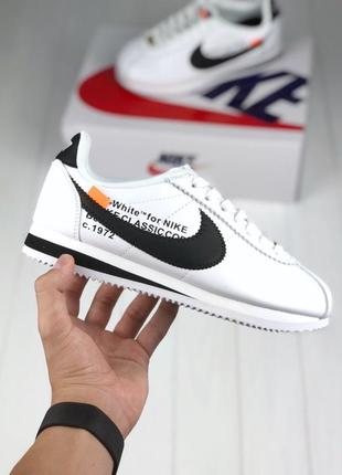 Крутые nike cortez x off white