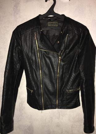 Куртка кожзам new look