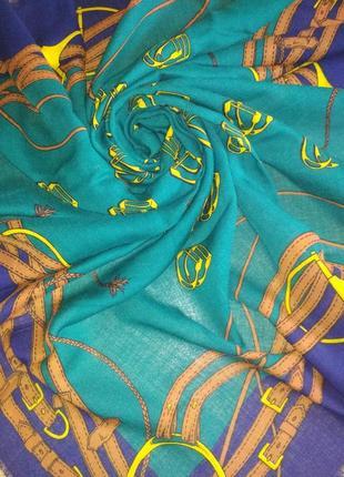 Винтажный прекрасный 💯 шерстяной большой теплый итальянский платок 117*115 см