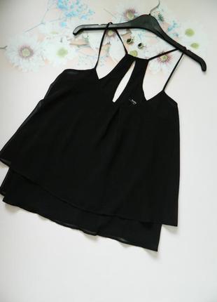 Актуальная шифоновая блуза безрукавка bershka кроп блуза в бельевом стиле р.м