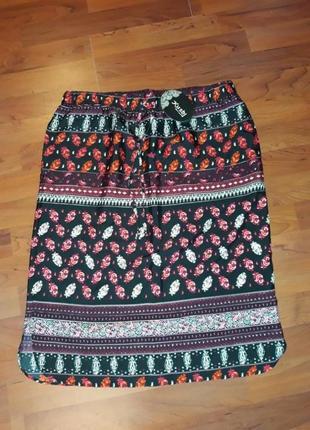 Акция 1+1=3  суперлегкая летняя юбка с биркой kushi, размер 48 - 50