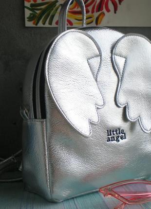 "Серебристый рюкзак handmade ""little angel"""