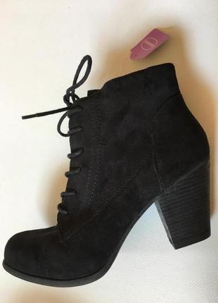 Деми ботинки graceland новые, каблук 7,5 см.