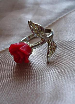 Кольцо accessorize, роза