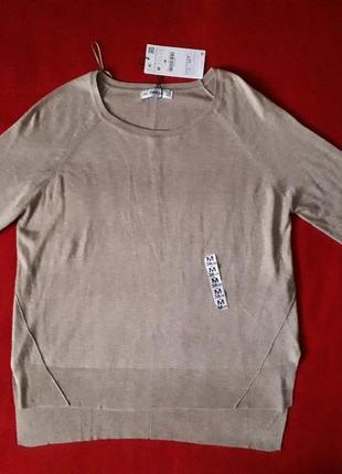 Новая шикарная кофта джемпер свитер zara knit вискоза+акрил