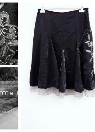 Нарядная юбка миди с вышивкой юбка миди вышивка
