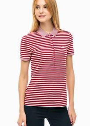 Полосатая футболка поло с рукавом в принт only тенниска в полоску с надписью  удлиненная