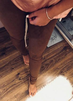 Лосины, джинсы, под замш