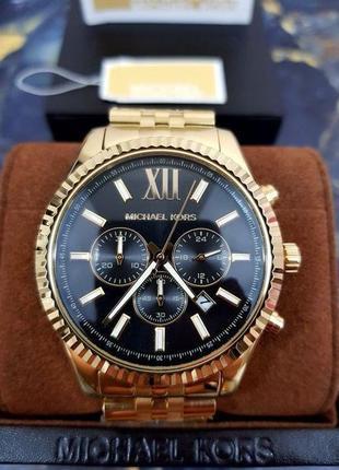 Часы мужские michael kors mk8286 black chrono оригинал