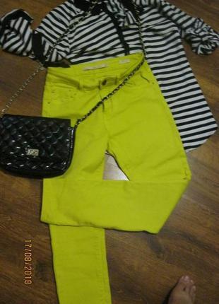 Новые лимонные джинсы с завышеной посадкой
