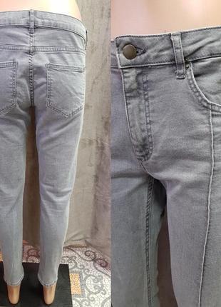 Серые укороченные джинсы 38-м размера h&m,джинсы со стрелками4 фото