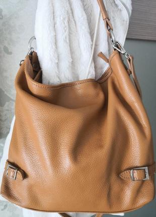 Большая кожаная сумка borse in pelle