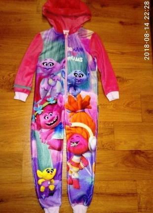 Классная яркая пижама george на девочку 5-6 лет