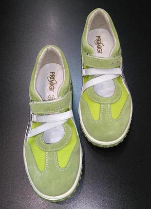 Кроссовки, мокасины в спортивном стиле primigi цвета лайма, р. 32 (21,5 см.)