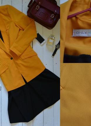 Желтый жакет пиджак only