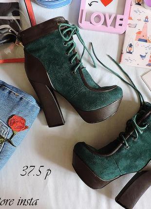 Туфли ботинки на каблуку 24.5 см