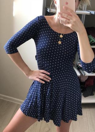 Трендовое платье в горох new look