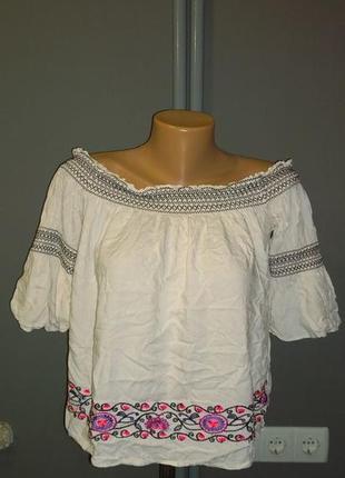 Топ блуза кофточка со спущенными плечами george