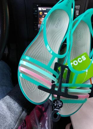 Босоножки crocs isabella sandals сандалии крокс w8