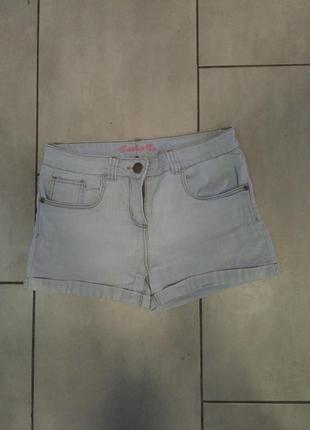 Шорты джинсовые светлые  с подкатами женские короткие