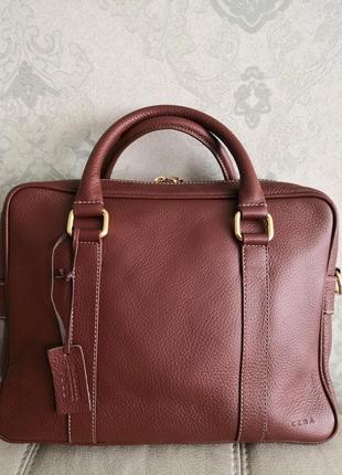 Роскошная кожаная деловая сумка ezra