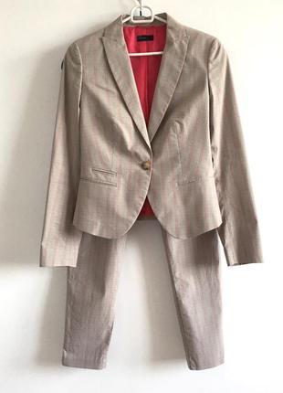 Костюм benetton ucb s легкий светлый костюм прямые короткие брюки