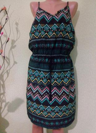 Летнее платье сарафан большого размера 52-54,(18-20 uk),evr 46-48/пляжная туника