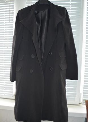 Модное пальто прямое длинное милитари бойфренд демисезонное осеннее  м / л