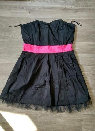 Чорне плаття бюстьє / черное платье бюстье