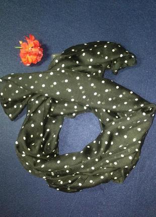 Стильный шарф в горошек h&m
