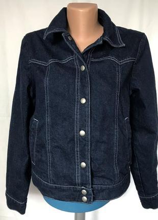 Куртка джинсовая темно-синяя