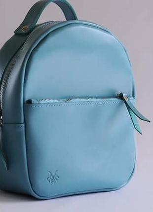 Маленький кожаный городской рюкзак
