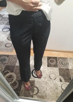 Синие прямые классические брюки штаны