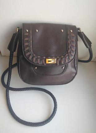 Женская маленькая сумка на через плечо длинная ручка клатч