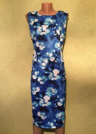 Платье коттон в цветы f&f 18 размер