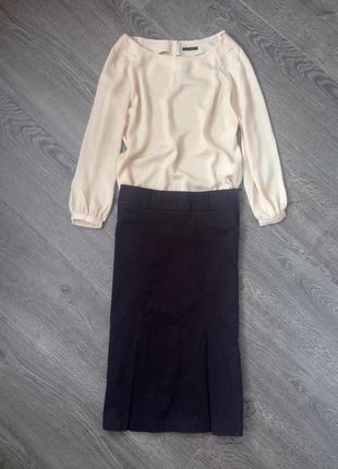 Стильная юбка- миди h&m. xs/s.
