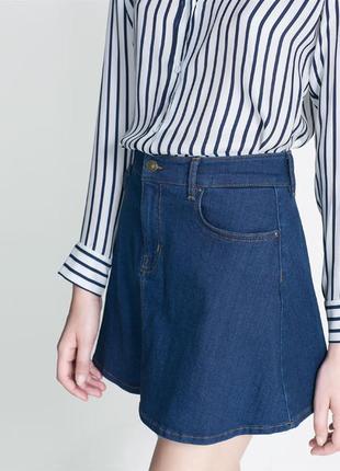 Юбка мини джинсовая zara